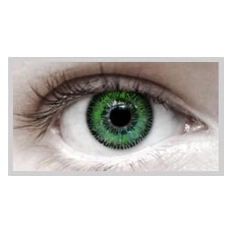 Fashion Fancy Dress 1 Month Wear 2 Tone Contact Lenses - T.T Green (1 pair)