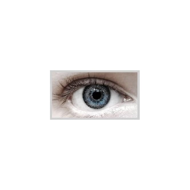 Eyecasions Fashion Fancy Dress 1 Month Wear 2 Tone Contact Lenses - T.T Grey (1 Pair)
