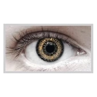 Fashion Fancy Dress 1 Month Wear 2 Tone Contact Lenses - T.T Hazel (1 Pair)