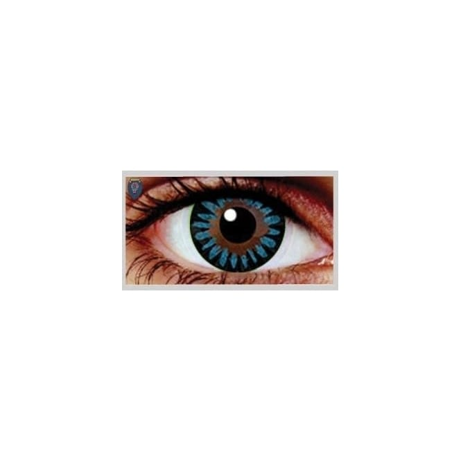 Eyecasions Fashion Fancy Dress 1 Month Wear Contact Lenses - Misty Blue (1 Pair)