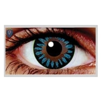 Fashion Fancy Dress 1 Month Wear Contact Lenses - Misty Blue (1 Pair)