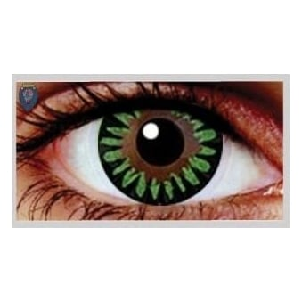 Fashion Fancy Dress 1 Month Wear Contact Lenses - Misty Green (1 Pair)