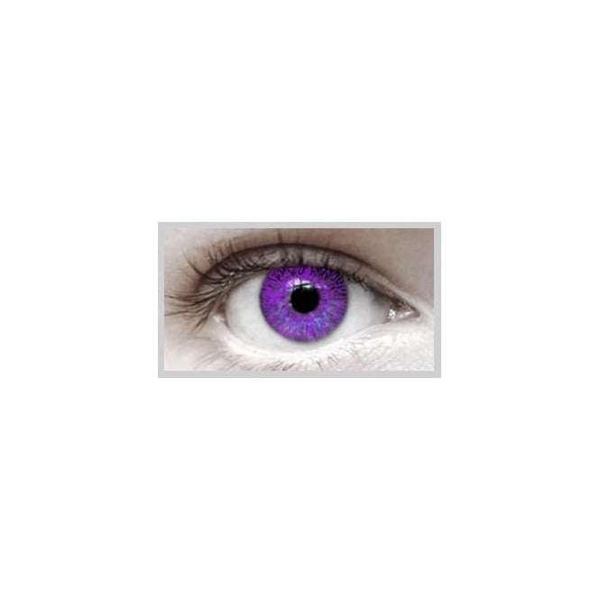 Eyecasions Fashion Fancy Dress 1 Month Wear Contact Lenses - Violet (1 Pair)
