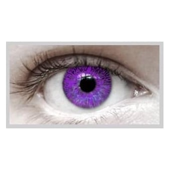 Fashion Fancy Dress 1 Month Wear Contact Lenses - Violet (1 Pair)