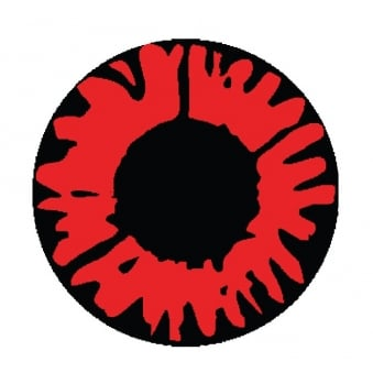 One Day Halloween Contact Lenses - Explosion Red (1 Pair)