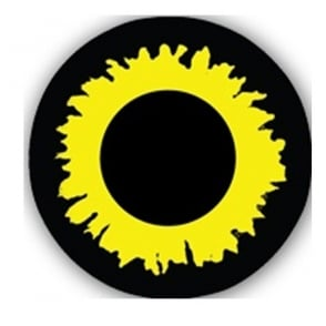 One Day Halloween Contact Lenses - Explosion Yellow (1 Pair)
