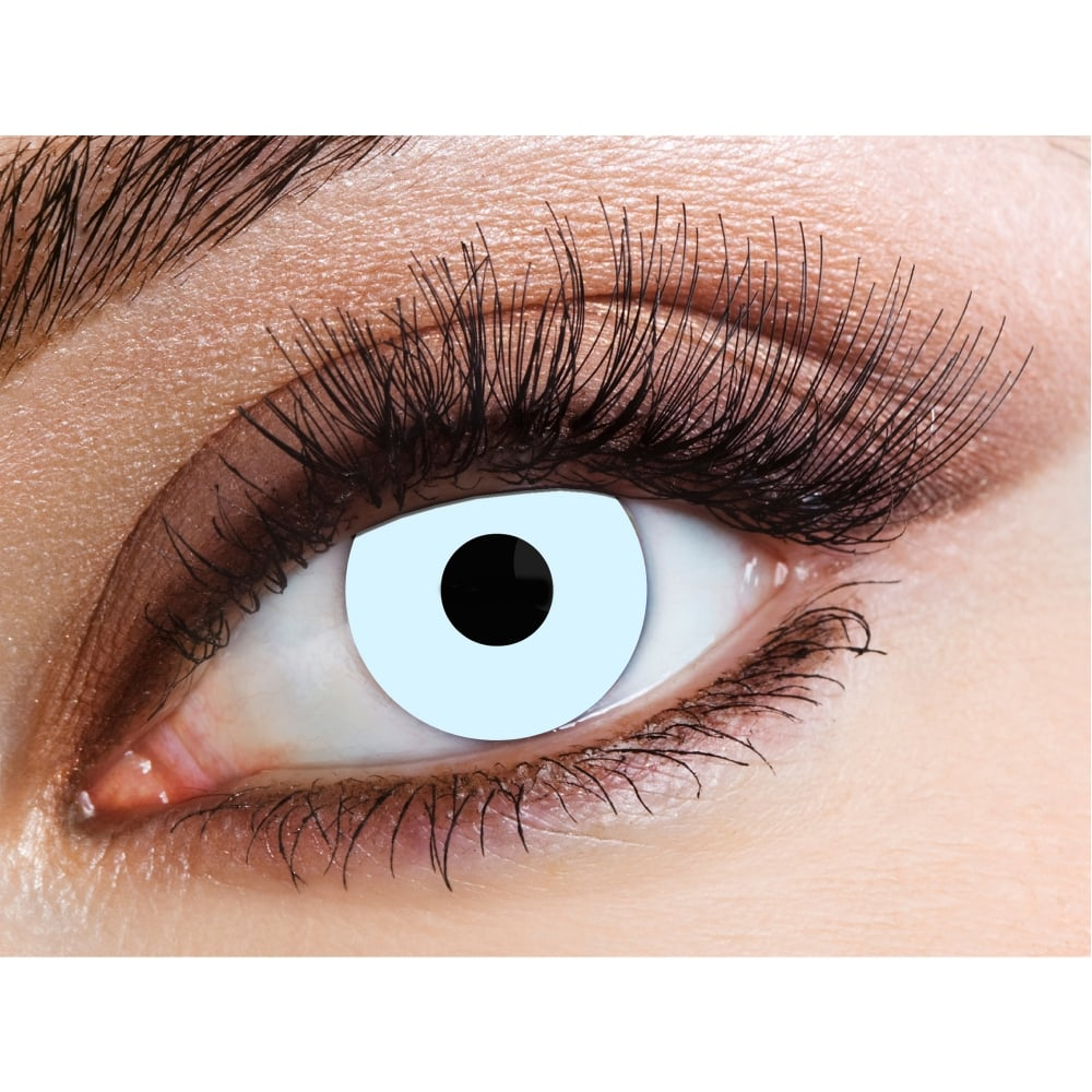 eyecasions one day halloween contact lenses - ice blue (1 pair)
