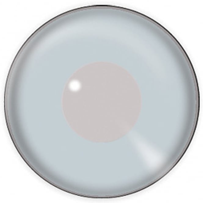 Eyecasions One Day Halloween Contact Lenses - Silver Mirror (1 Pair)