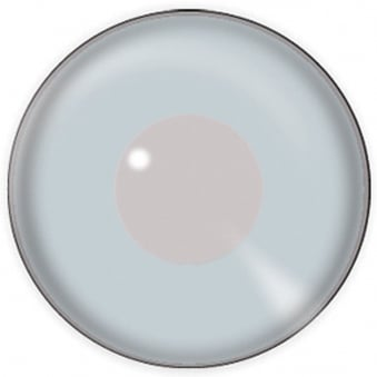 One Day Halloween Contact Lenses - Silver Mirror (1 Pair)