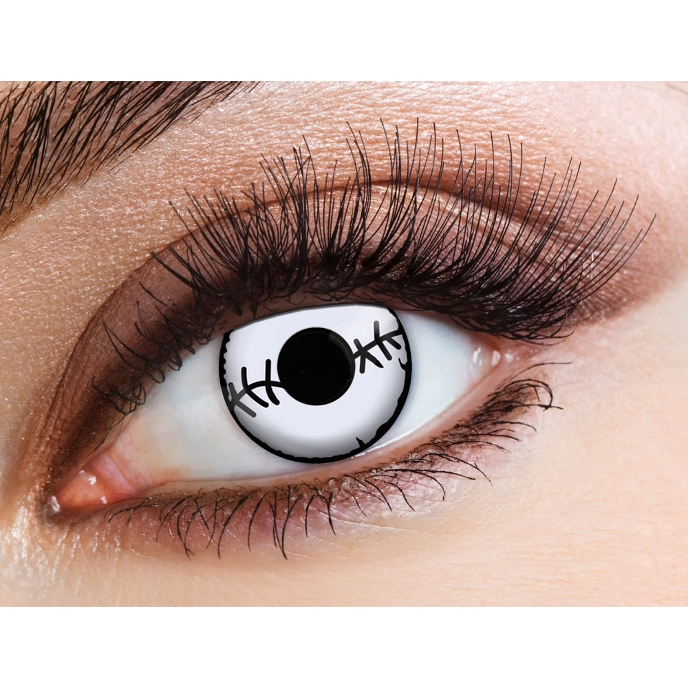 Cheap Halloween Contact Lenses | Eyecasions One Day Halloween Contact Lenses Stitch 1 Pair