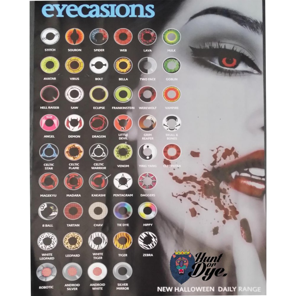 Day Scary Extreme Halloween Contact Lenses - Chav (1 Pair)