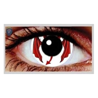 One Day Scary Extreme Halloween Contact Lenses - Demon (1 Pair)