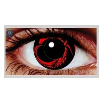 One Day Scary Extreme Halloween Contact Lenses - Dragon (1 Pair)