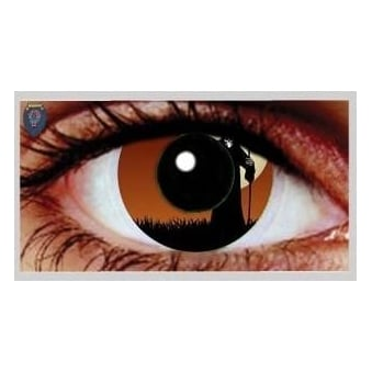 One Day Scary Extreme Halloween Contact Lenses - Grim Reaper (1 Pair)