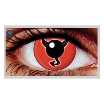 One Day Scary Extreme Halloween Contact Lenses - Little Devil (1 Pair)