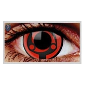 One Day Scary Extreme Halloween Contact Lenses - Madara (1 Pair)