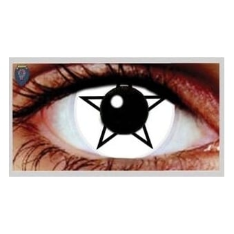 One Day Scary Extreme Halloween Contact Lenses - Pentagram (1 Pair)
