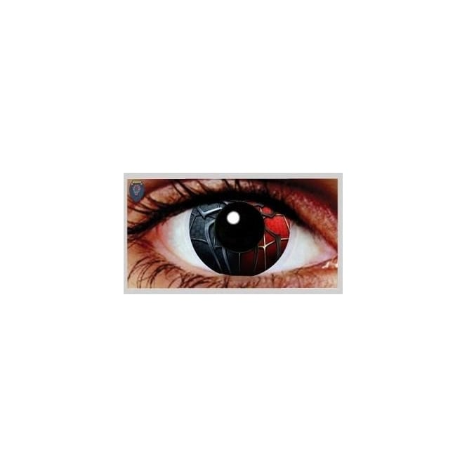 Eyecasions One Day Scary Extreme Halloween Contact Lenses - Spider (1 Pair)