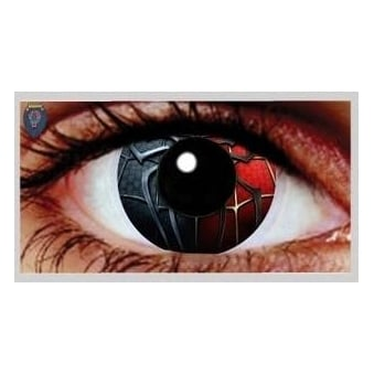 One Day Scary Extreme Halloween Contact Lenses - Spider (1 Pair)