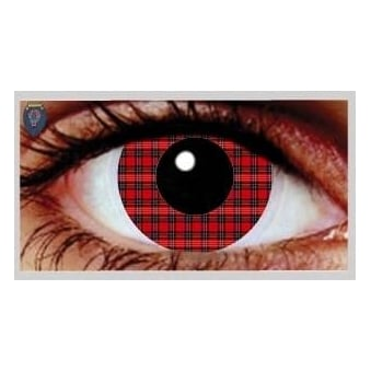 One Day Scary Extreme Halloween Contact Lenses - Tartan (1 Pair)