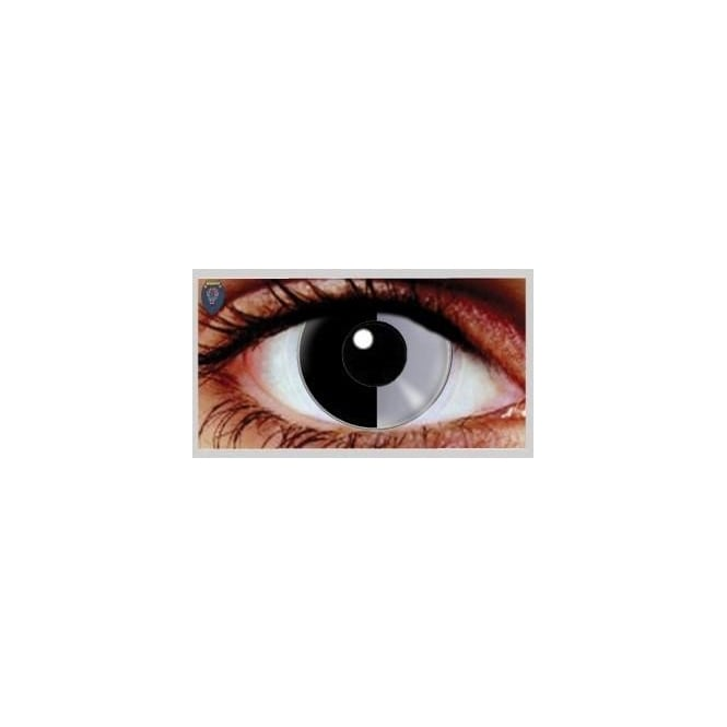 Eyecasions One Day Scary Extreme Halloween Contact Lenses - Two Face (1 Pair)