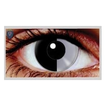 One Day Scary Extreme Halloween Contact Lenses - Two Face (1 Pair)