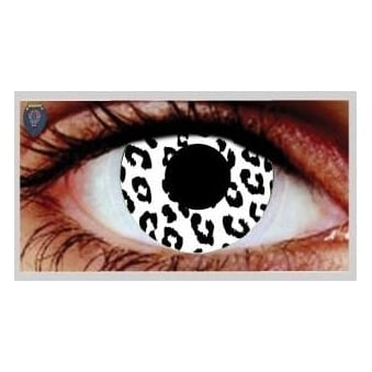 One Day Scary Extreme Halloween Contact Lenses - White Tiger (1 Pair)