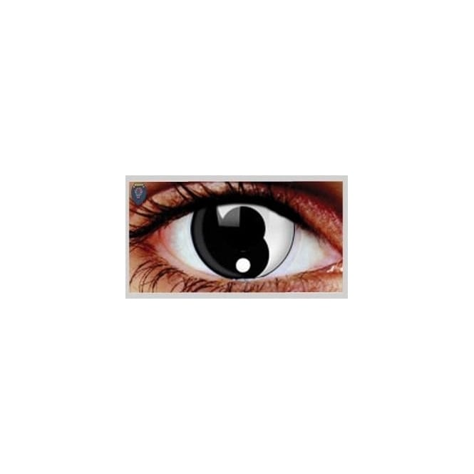 Eyecasions One Day Scary Extreme Halloween Contact Lenses - Ying Yang (1 Pair)