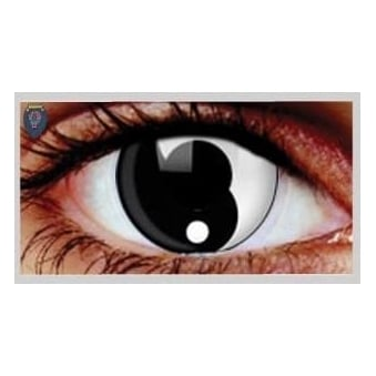 One Day Scary Extreme Halloween Contact Lenses - Ying Yang (1 Pair)