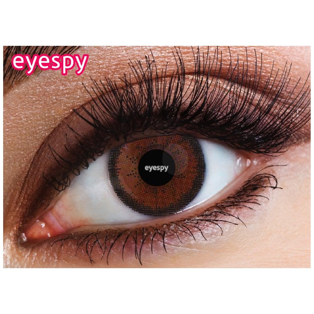 eyespy 1 month contact lenses two tone hazel 1 pair