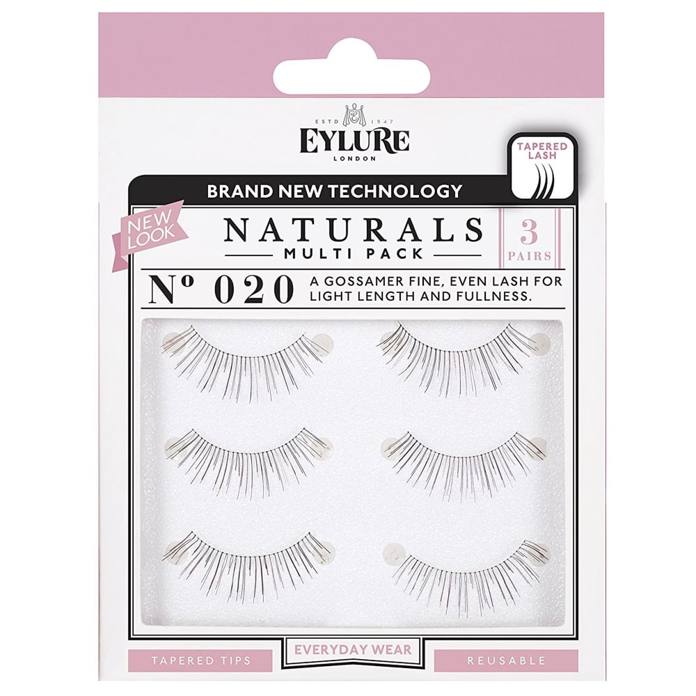 610dafc9f62 Naturals - No 020 Reusable Light Length Eyelashes - Pack Of 3 (Adhesive  Included)
