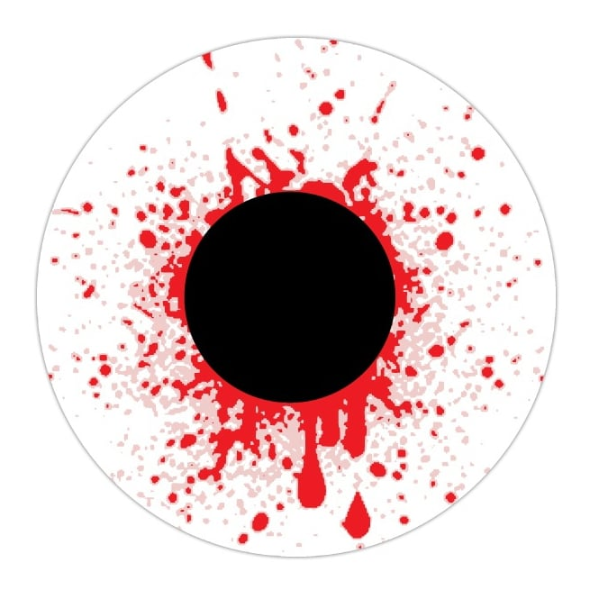Mesmereyez - Hunt Or Dye Fancy Dress Accessories One Day Halloween Contact Lenses - Bloodshot Drops (1 Pair)
