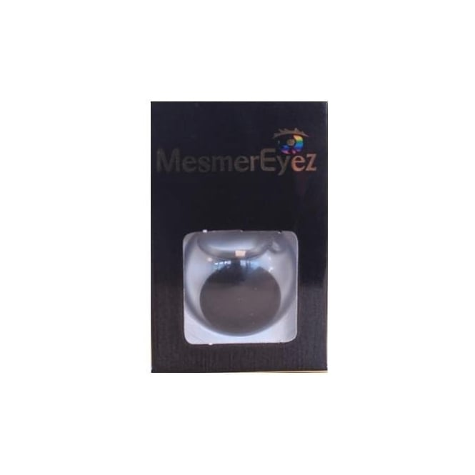 Mesmereyez Xtreme Fancy Dress Halloween Contact Lenses - Blind Black (Usage:1,3,12 Months - 1 Pair)