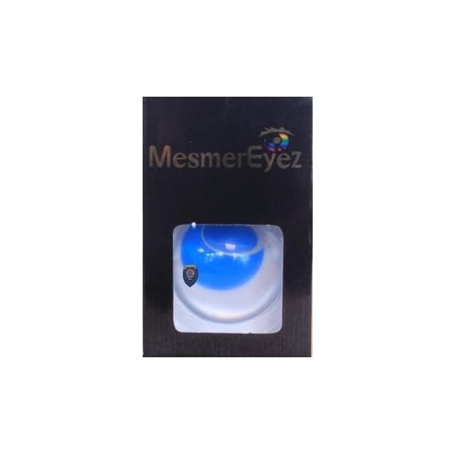 Mesmereyez Xtreme Fancy Dress Halloween Contact Lenses - Blind Blue (Usage:1,3,12 Months - 1 Pair)