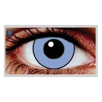 Fancy Dress Halloween Contact Lenses - Blue Manson (Usage:1,3,12 Months - 1 Pair)