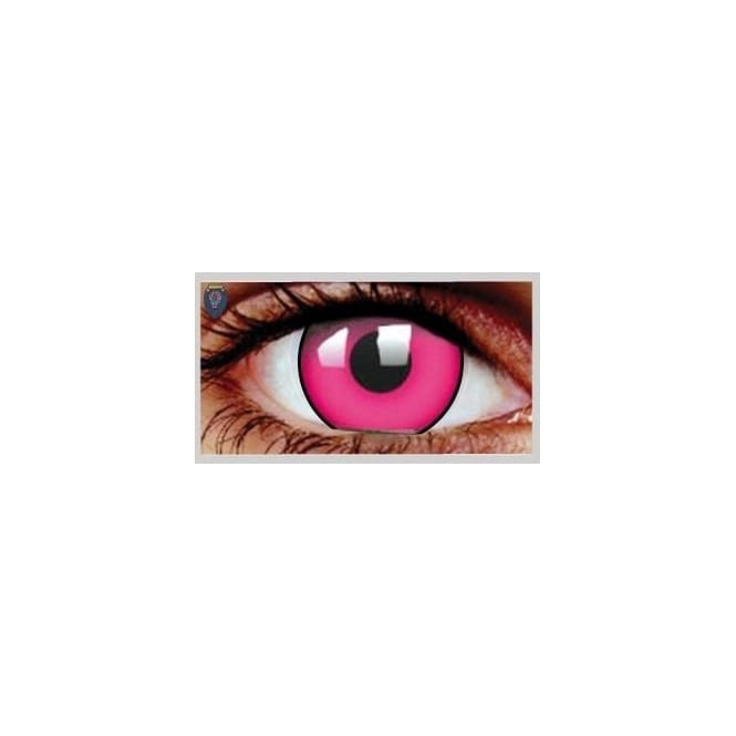 Mesmereyez Xtreme Fancy Dress Halloween Contact Lenses - Climax Pink UV (Usage:1,3,12 Months - 1 Pair)