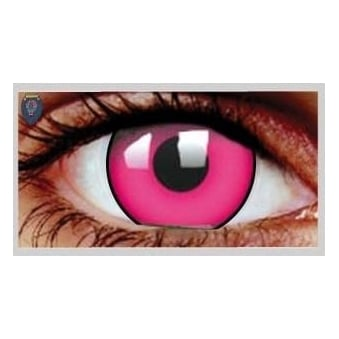 Fancy Dress Halloween Contact Lenses - Climax Pink UV (Usage:1,3,12 Months - 1 Pair)