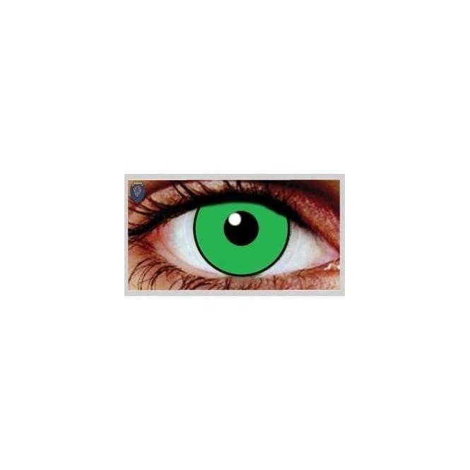 Mesmereyez Xtreme Fancy Dress Halloween Contact Lenses - Eggie Weg Green UV (Usage:1,3,12 Months - 1 Pair)
