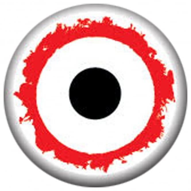 Mesmereyez Xtreme Fancy Dress Halloween Contact Lenses - Mini Sclera Vampire (Usage:1,3,12 Months - 1 Pair)