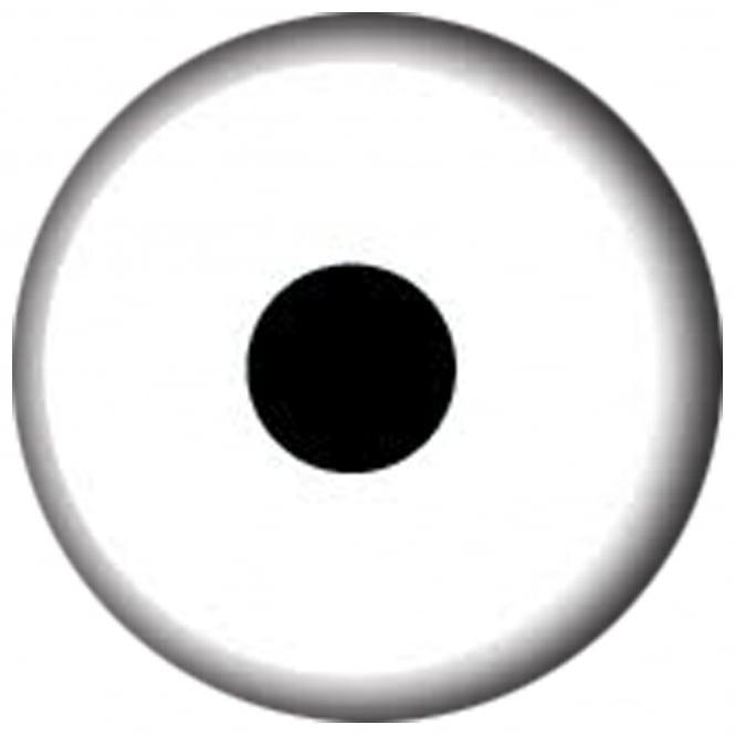 Mesmereyez Xtreme Fancy Dress Halloween Contact Lenses - Mini White (Usage:1,3,12 Months - 1 Pair)
