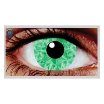 Fancy Dress Halloween Contact Lenses - Suly Green UV (Usage:1,3,12 Months - 1 Pair)