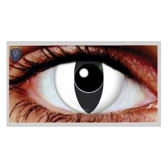 Fancy Dress Halloween Contact Lenses - White Cat UV (Usage:1,3,12 Months - 1 Pair)
