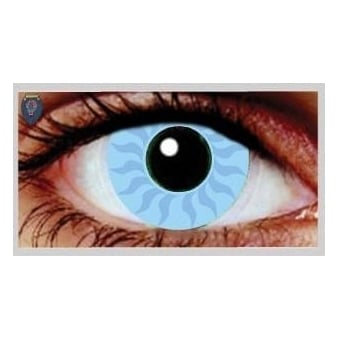 Fancy Dress Halloween Contact Lenses - Zeus Blue (Usage:1,3,12 Months - 1 Pair)