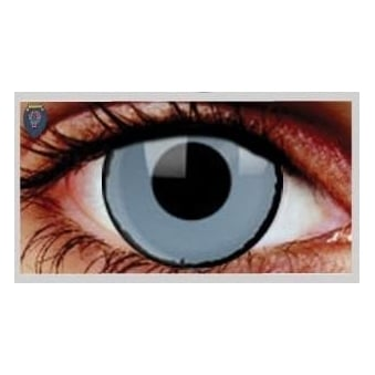 Fancy Dress Halloween Contact Lenses - Zombie Black Ring (Usage:1,3,12 Months - 1 Pair)