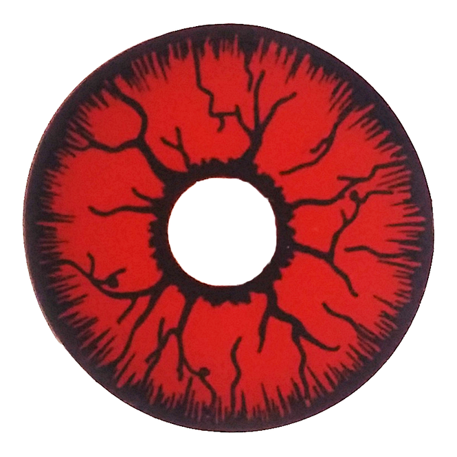 Mesmereyez Xtreme Fancy Dress Halloween Mini Sclera Contact Lenses - Red Rage (Usage: 1,3,12 Months - 1 Pair)