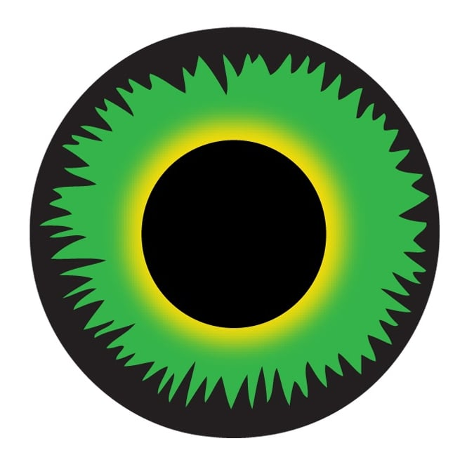 Mesmereyez Xtreme Fancy Dress New One Day Halloween Contact Lenses - Green Werewolf (1 Pair)
