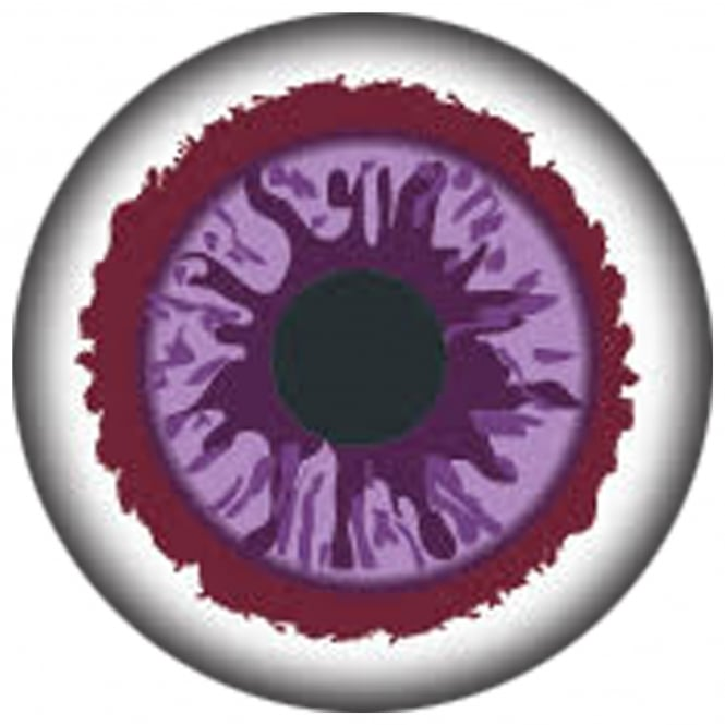 Mesmereyez Xtreme Fancy Dress New One Day Halloween Contact Lenses  - Purple Glaze (1 Pair)