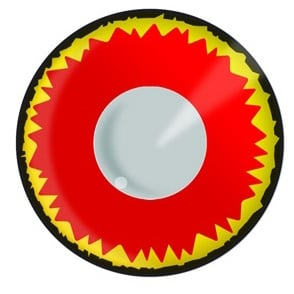 Fancy Dress New One Day Halloween Contact Lenses - Red Vampire (1 Pair)
