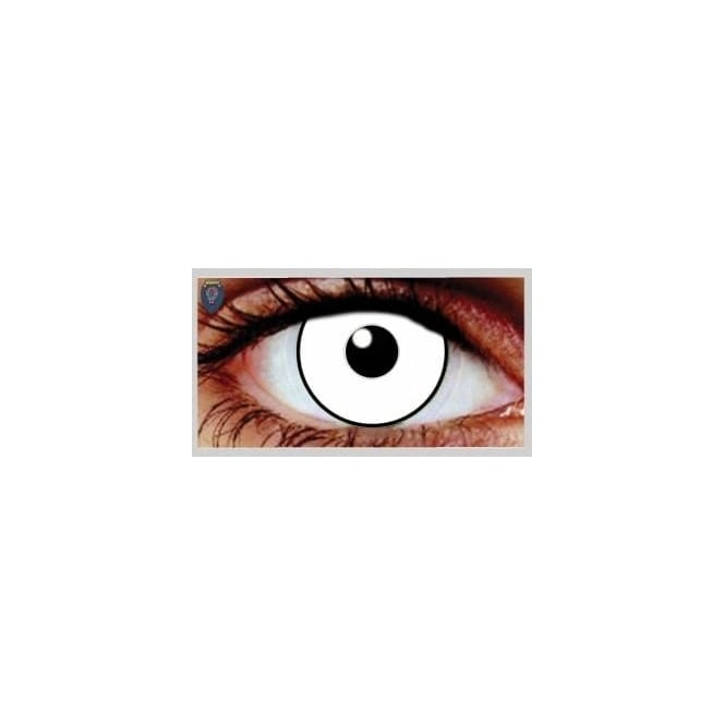 Mesmereyez Xtreme Fancy Dress One Day Halloween Contact Lenses - UV Glass White (1 Pair)