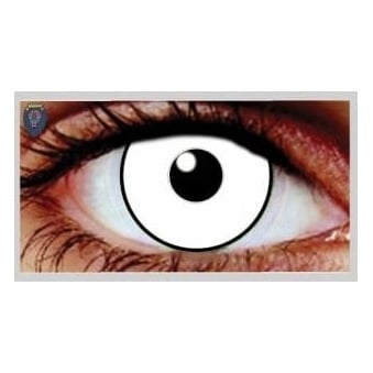 Fancy Dress One Day Halloween Contact Lenses - UV Glass White (1 Pair)